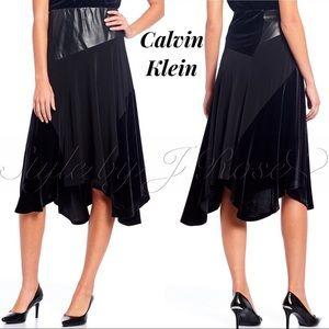 NWT's Calvin Klein Mixed Media Black Skirt